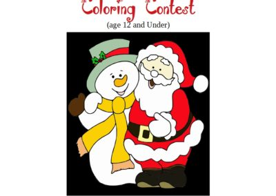 First Annual Christmas Coloring Contest